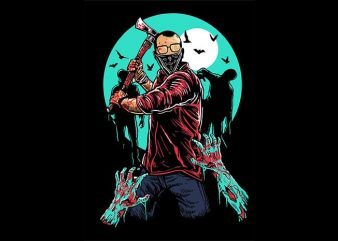 Zombie Killer t shirt design