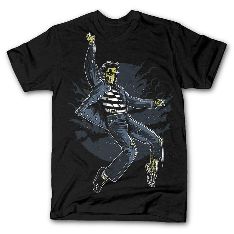Zombie King t shirt design t-shirt designs for merch by amazon