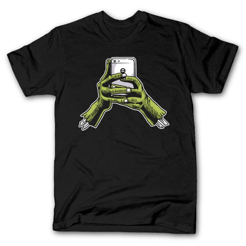 Zombie Phone t shirt design t-shirt designs for merch by amazon