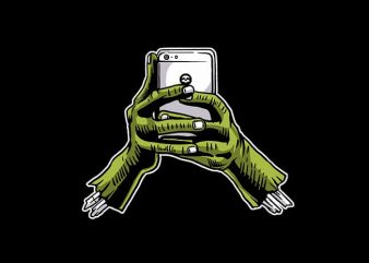 Zombie Phone t shirt design
