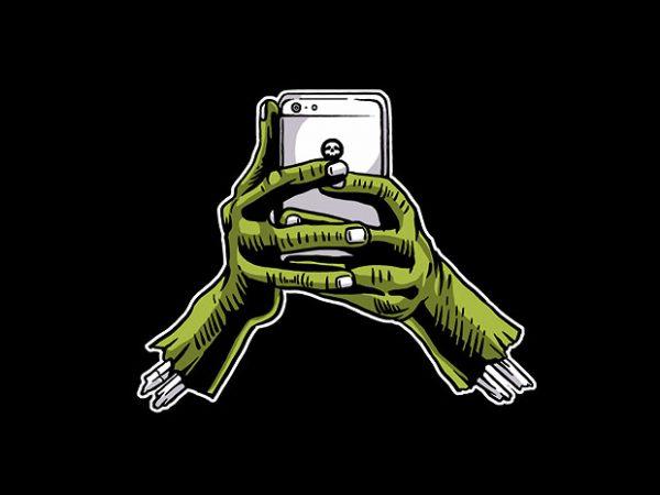Zombie Phone t shirt design