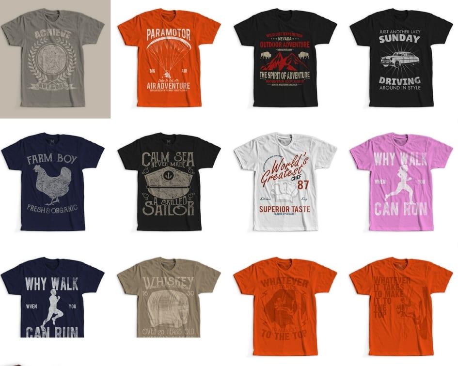 1 - 100 Retro Vintage T-Shirt Designs buy t shirt design