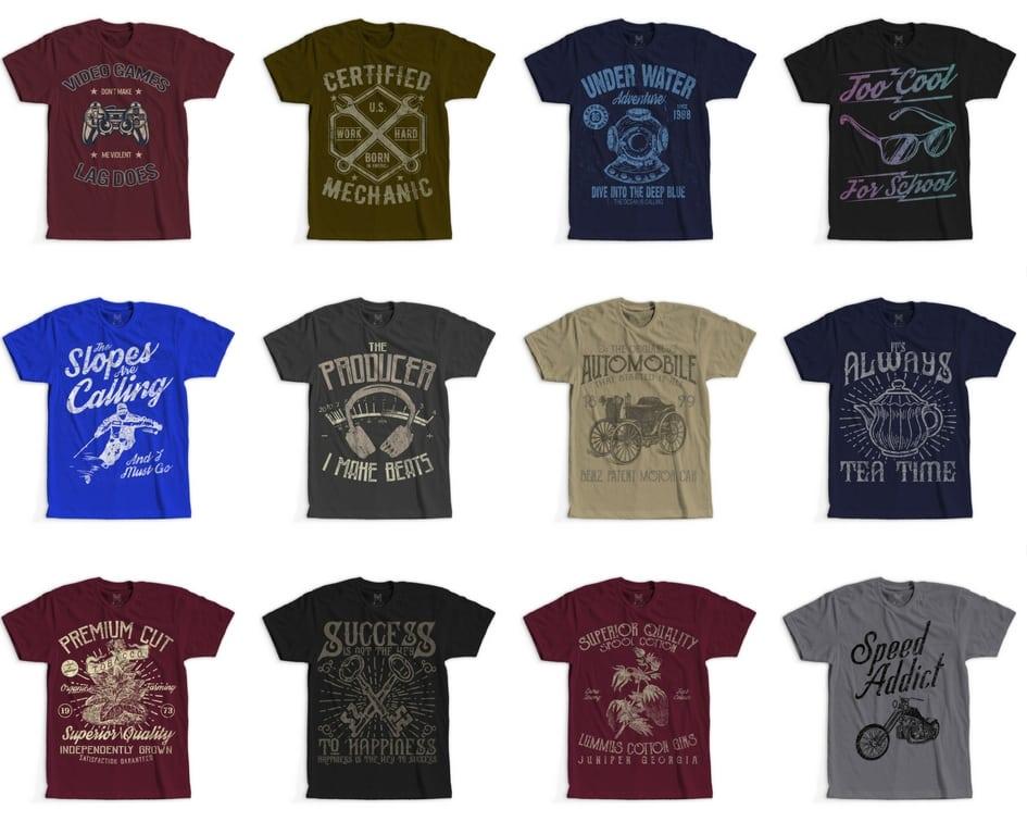 2 - 100 Retro Vintage T-Shirt Designs buy t shirt design