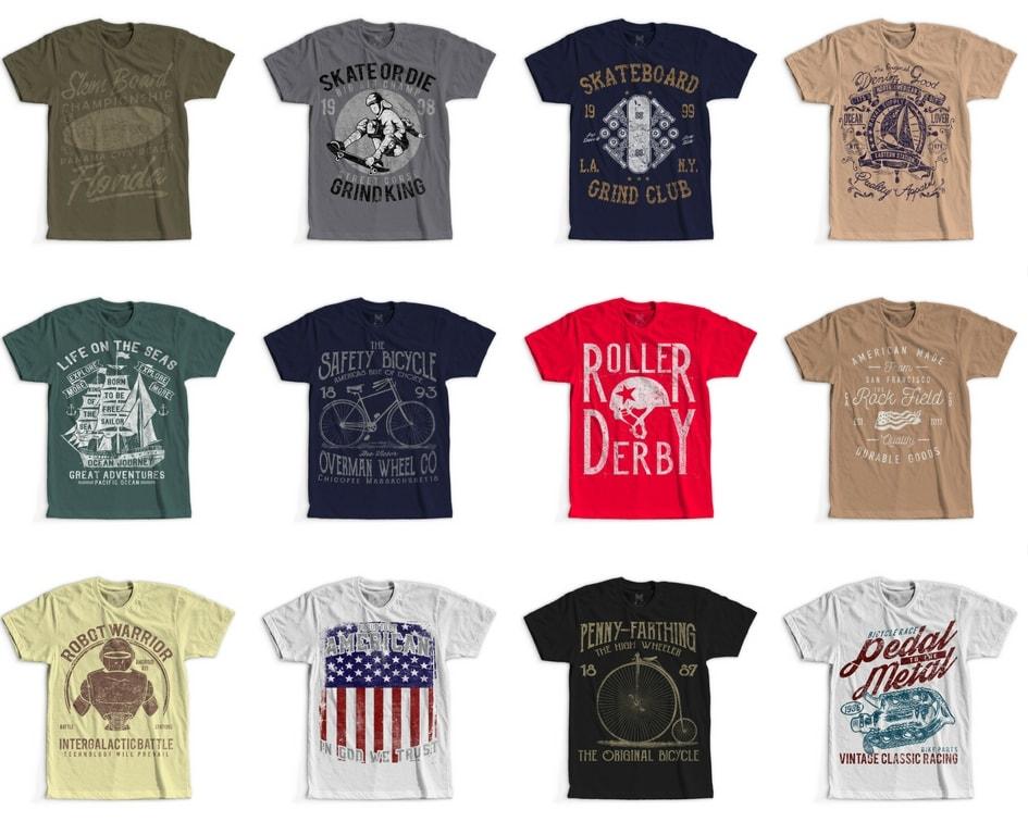 100 Retro Vintage T Shirt Designs Buy T Shirt Designs