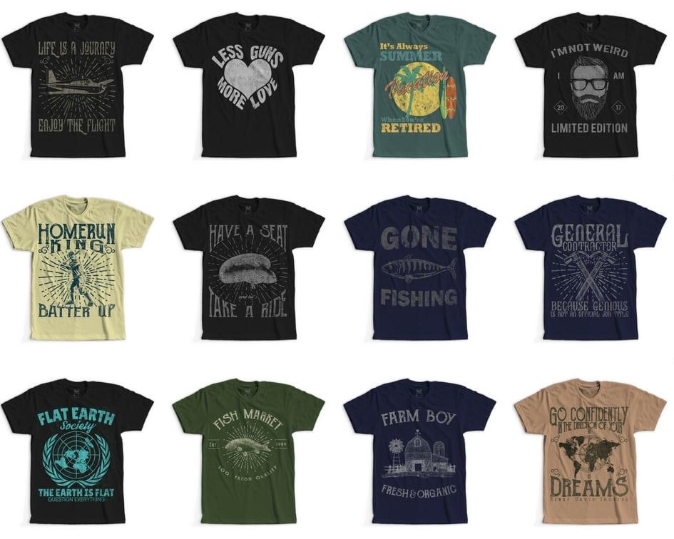 5 - 100 Retro Vintage T-Shirt Designs buy t shirt design