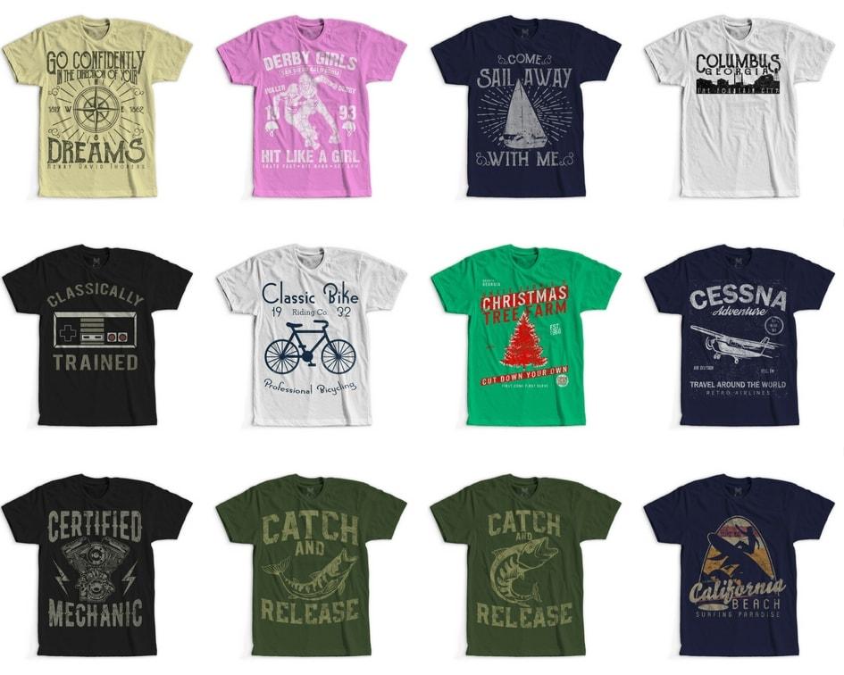 6 - 100 Retro Vintage T-Shirt Designs buy t shirt design