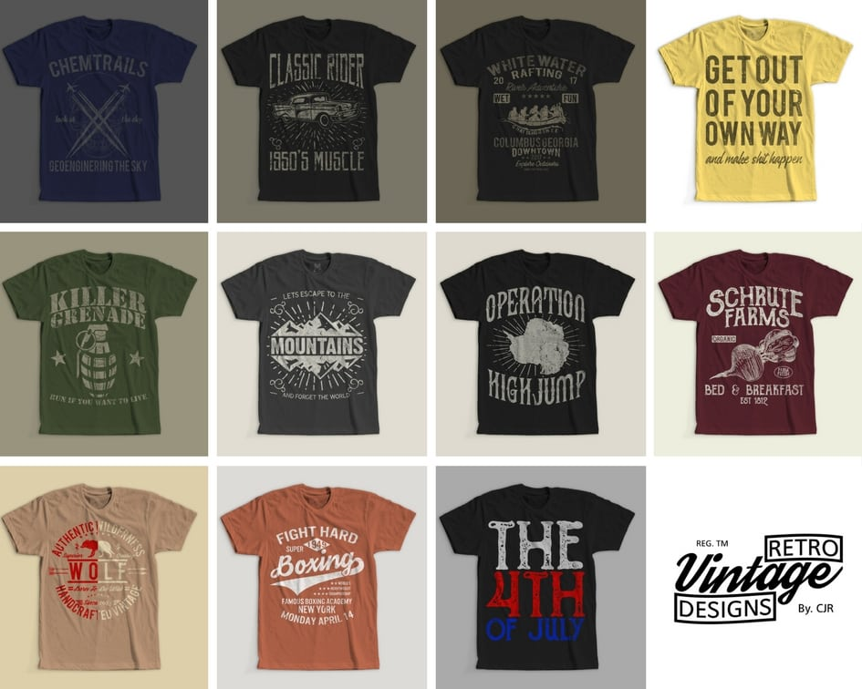 100 retro vintage t shirt designs buy t shirt designs for How to design and sell t shirts