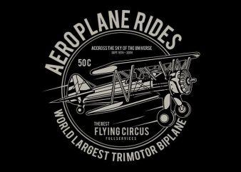 Aeroplane T shirt Design