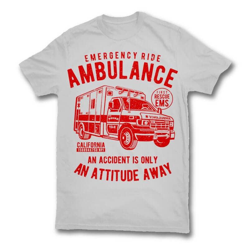 Ambulance vector t shirt design buy t shirt designs for Buy t shirt designs online
