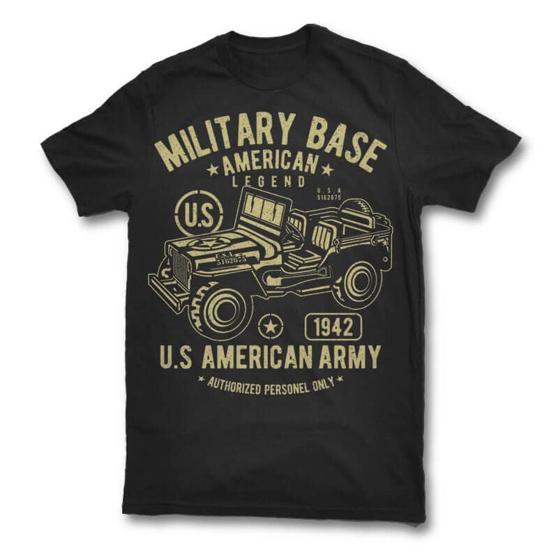 American Army Jeep vector design t shirt design png