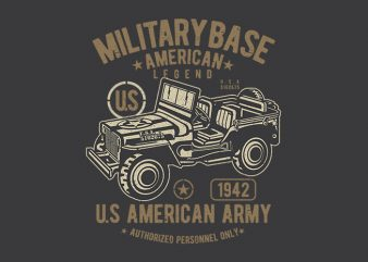 American Army Jeep vector design
