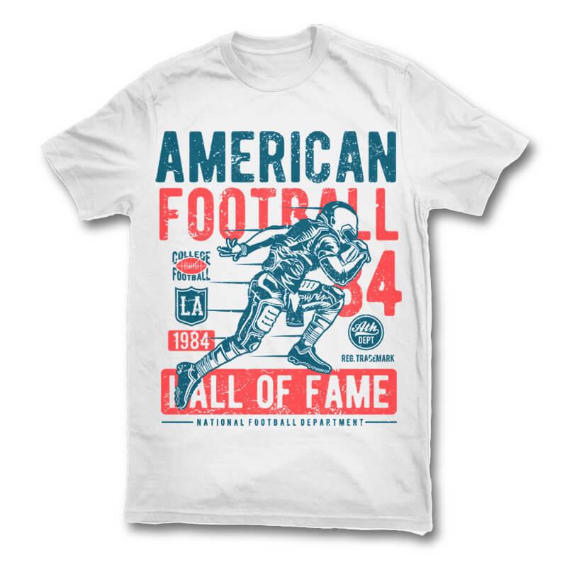 American Football Vector T Shirt Design Buy T Shirt Designs