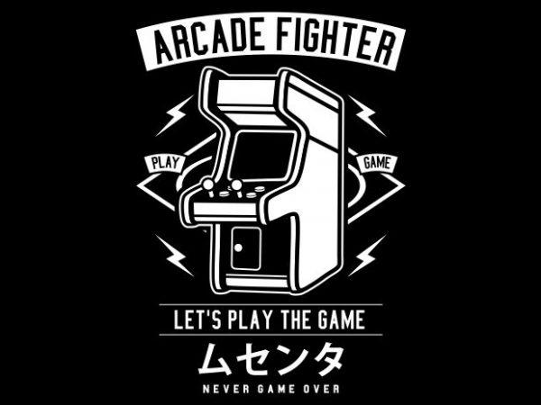 Arcade Fighter t shirt vector