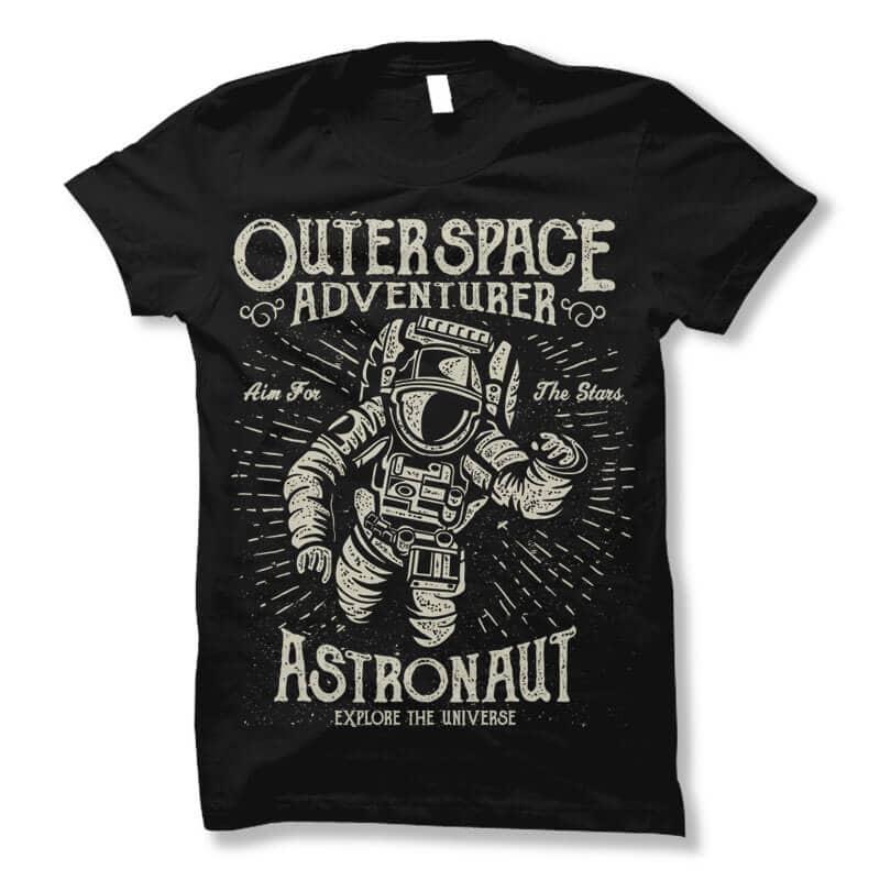 Astronaut vector t shirt design vector t shirt design