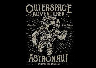 Astronaut vector t shirt design