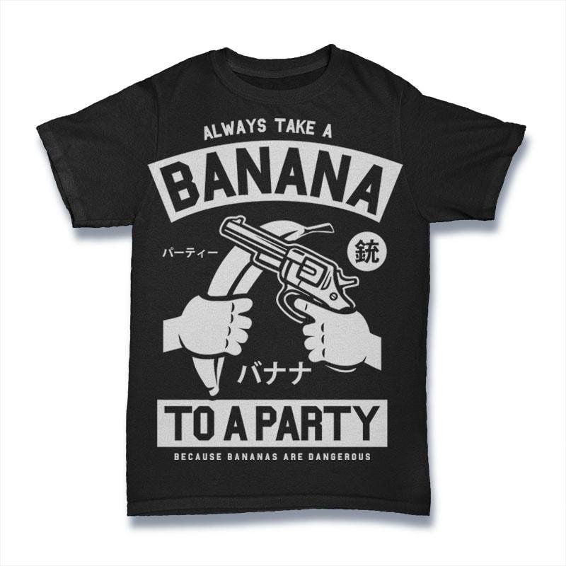 Banana Party t shirt design graphic