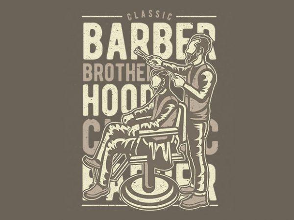 Barber Brotherhood t shirt design 600x450 - Barber Brotherhood vector design buy t shirt design