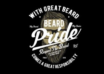 Beard Pride vector t shirt design