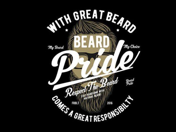 Beard Pride vector t shirt design