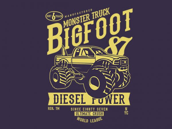 Big Foot vector t shirt design 600x450 - Bike To The Moon t shirt design buy t shirt design