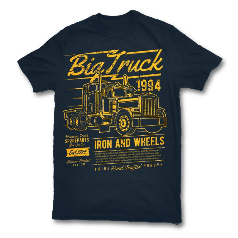 Big Truck 2 vector t shirt design tshirt design for merch by amazon