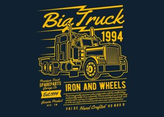 Big Truck 2 vector t shirt design