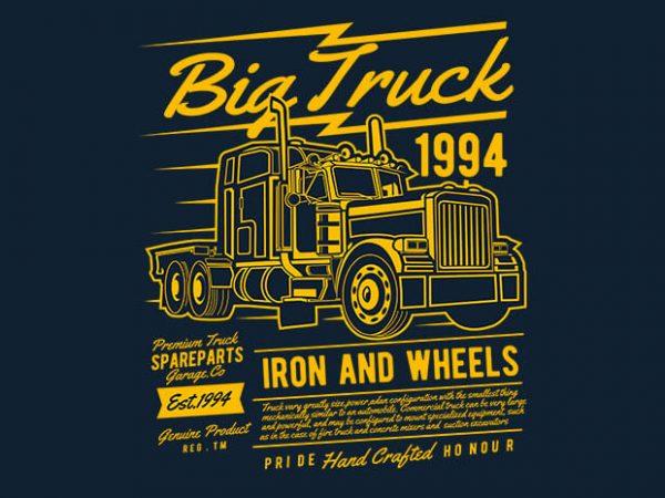 Big Truck 2 t shirt design 600x450 - Big Truck 2 vector t shirt design buy t shirt design