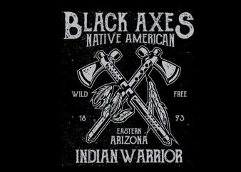 Black Axes vector t shirt design