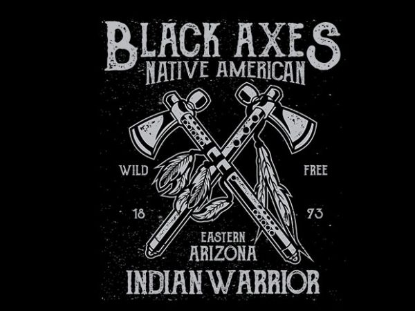 Black Axes t shirt design 600x450 - Black Axes vector t shirt design buy t shirt design