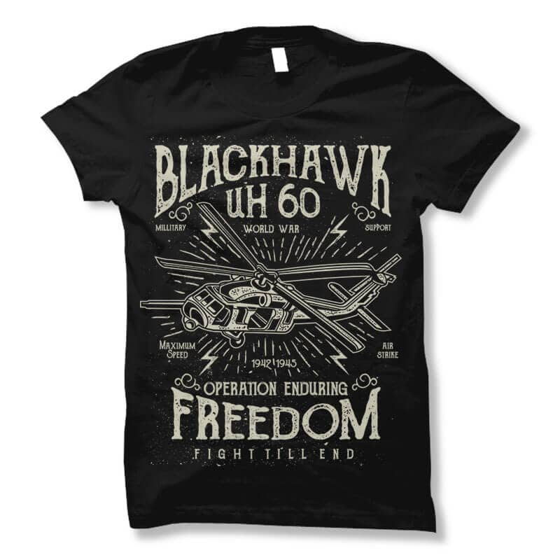 Blackhawk vector t shirt design commercial use t shirt designs