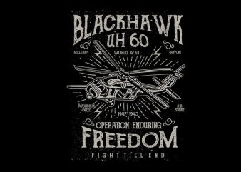 Blackhawk vector t shirt design