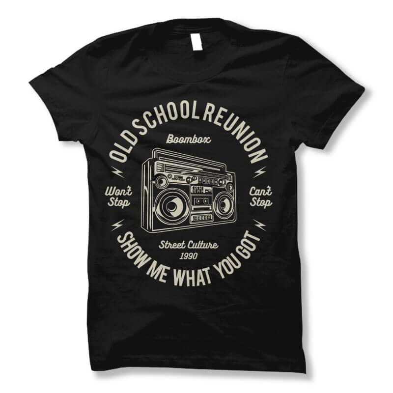 Boombox vector t shirt design commercial use t shirt designs