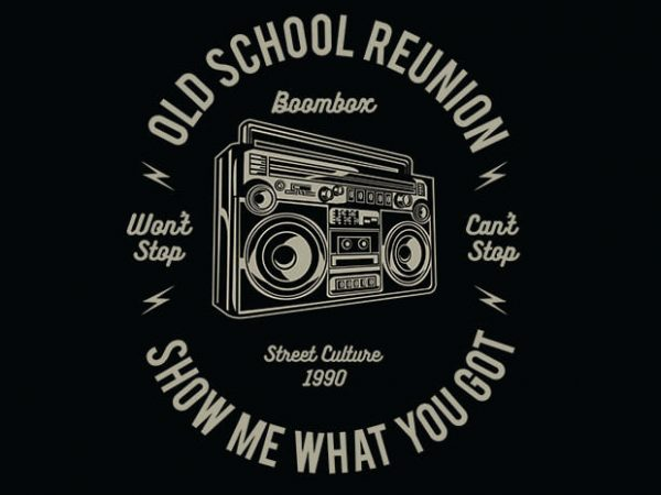 Boombox t shirt design 600x450 - Boombox vector t shirt design buy t shirt design