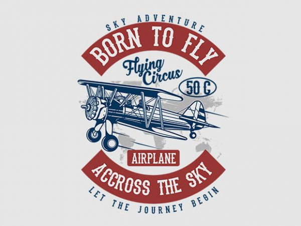 Born To Fly t shirt design 600x450 - Born To Fly t shirt design buy t shirt design