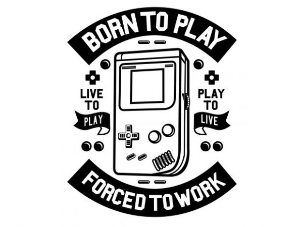 Born To Play tshirt design vector