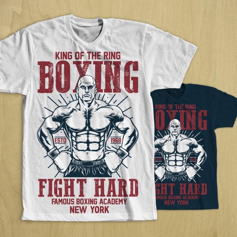 Boxing t shirt design t shirt designs for merch teespring and printful