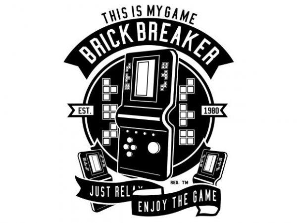 Brick Breaker graphic t-shirt design