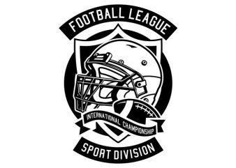 Football League t shirt graphic design