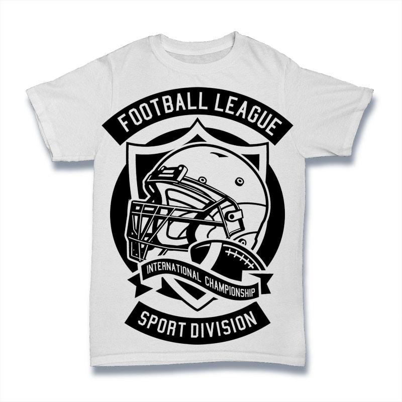 Football League t shirt design png