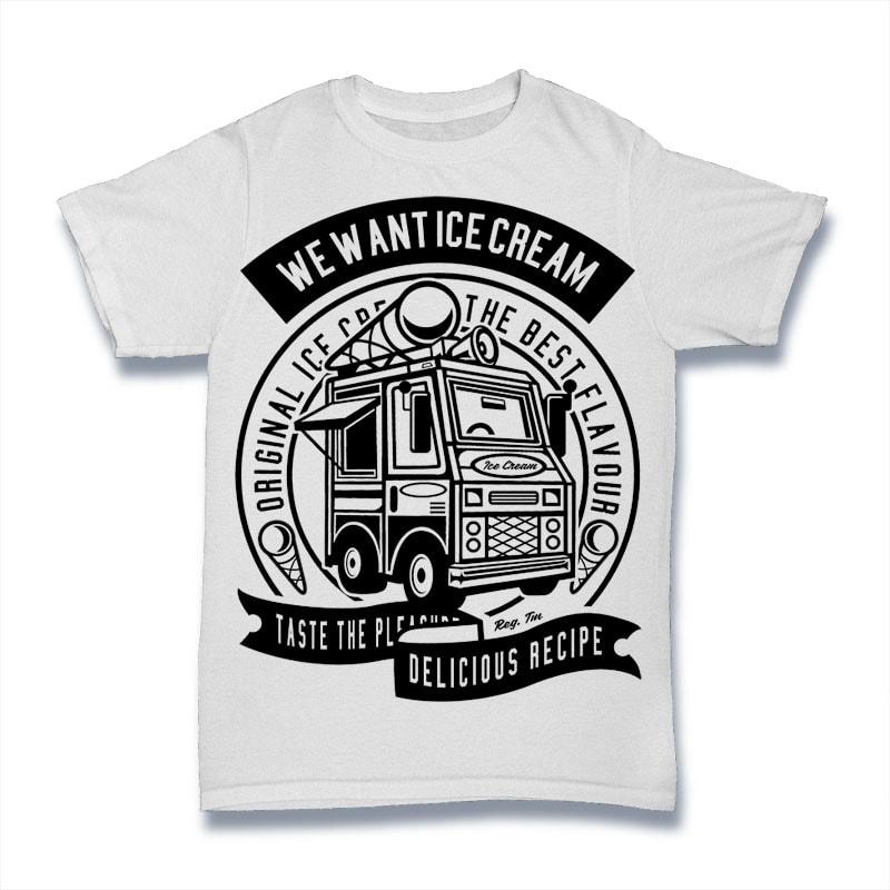 Ice Cream Truck vector t shirt design