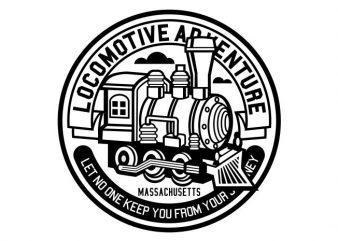 Locomotive Adventure t shirt vector graphic