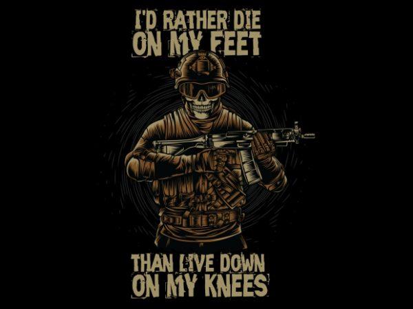 Military Skull vector t-shirt design for commercial use