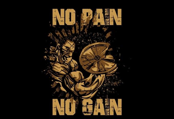 No Pain No Gain2 - No Pain No Gain2 buy t shirt design