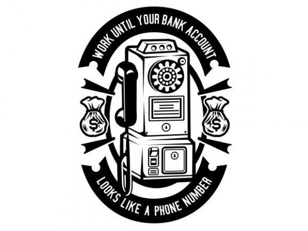Phone Number t shirt illustration