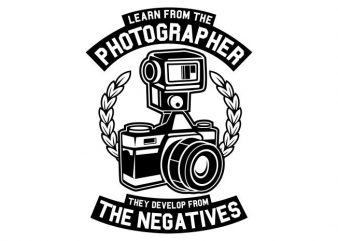 Photographer buy t shirt design for commercial use