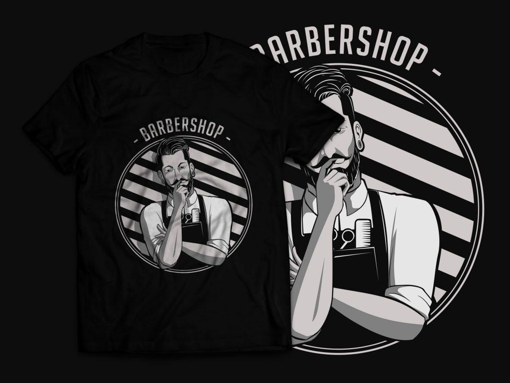 Barbershop T-Shirt Design t shirt design graphic