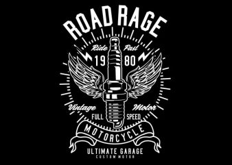 Road Rage commercial use t-shirt design