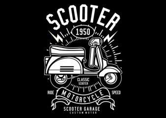 Scooter t shirt template vector