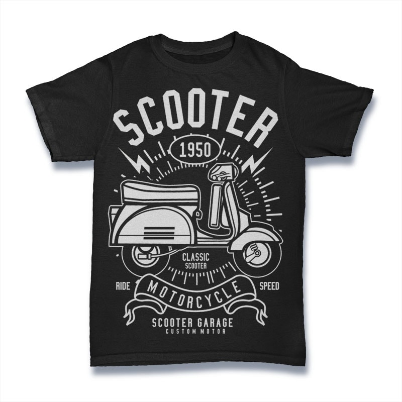 Scooter buy t shirt designs for Buy t shirt designs online