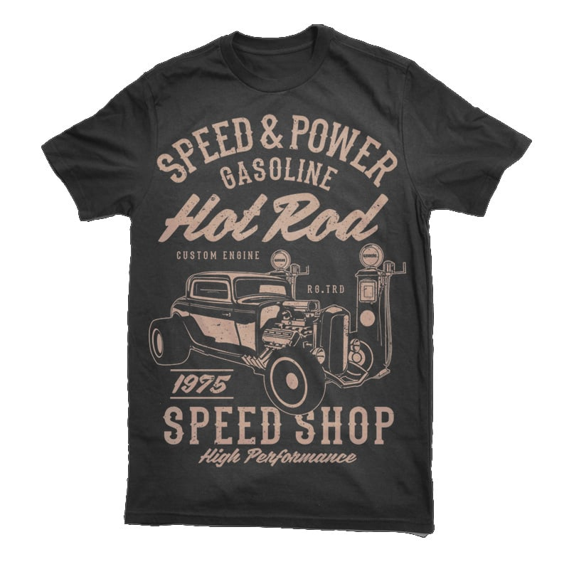 Speed Power Hotrod Tshirt - Speed & Power Hotrod buy t shirt design